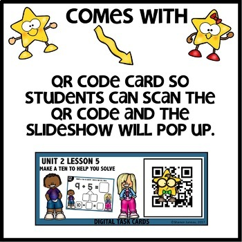 Make a ten to help you solve  DIGITAL TASK CARDS | PRINTABLE TASK CARDS