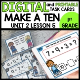 Make a ten to help you solve  DIGITAL TASK CARDS | PRINTAB