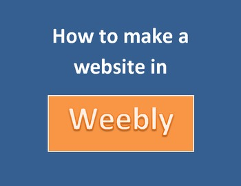 Make a website in weebly