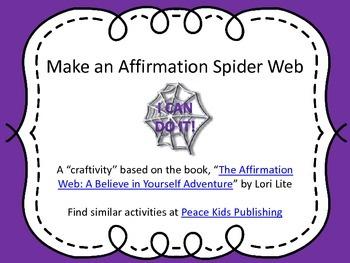 Make an Affirmation Spider Web