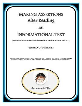 Make an Assertion After Reading Informational Text