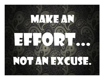 Make an Effort Poster