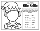 Make an Elfie Selfie! Includes Color by Code, Addition or Subtraction Activities