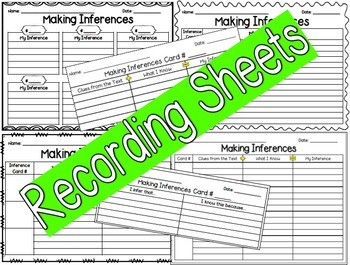Make an Inference Text Cards!