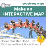 Interactive Digital Map--Take a Roller Coaster Road Trip!