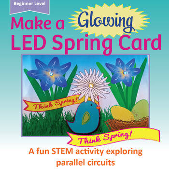 EASY! LED Spring Card | STEM, Science, STEAM, Circuits | Maker Space Activity