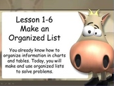 """Make an Organized List Animated Interactive PowerPoint Lesson """"Updated!!"""""""