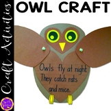 Owl Craft | Fall Crafts | Forest Crafts | Halloween Bullet