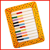 Make an abacus with beads