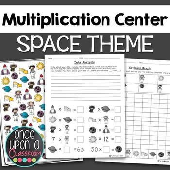Multiplication Center - Space Theme