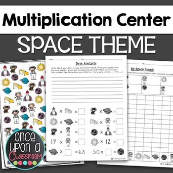 Multiplication Center - Space Theme