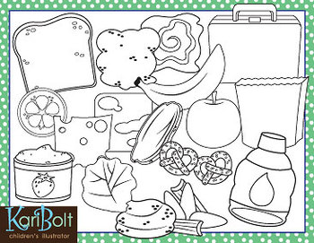 Make and Pack Lunch Clip Art