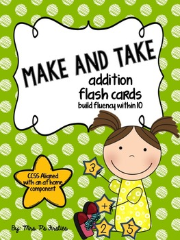 Make and Take Addition Flash Cards {CCSS aligned with an a