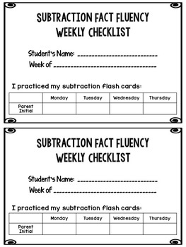 Make and Take Subtraction Flash Cards {CCSS aligned with an at home component}