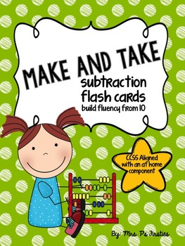 Make and Take Subtraction Flash Cards {CCSS aligned with a