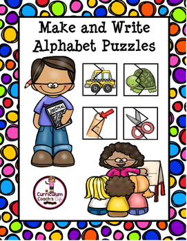 Make and Write Letter Puzzles:  Year-Long Center