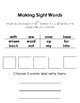 Make and Write Sight Words