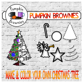 Make and color your own Christmas tree