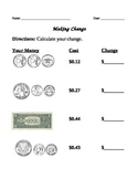Make change from 1 dollar