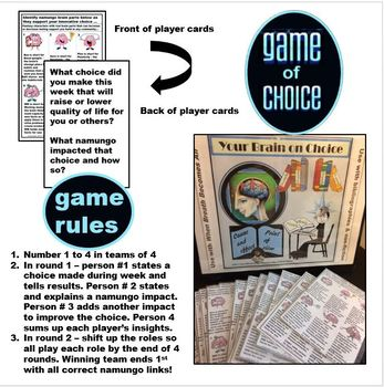 Make healthy choices guided by bibliography, non-fiction text & brainbased game