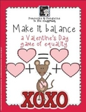 Make it Balance - Valentines Addition Activity