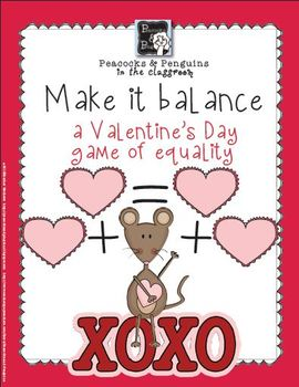 Make it Balance - Valentines Addition Activity