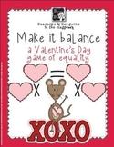 Make it Balance - Valentines Multiplication Activity