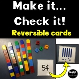 Reversible place value cards TENS AND ONES cubes