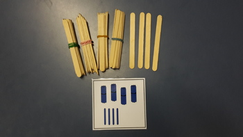 Reversible place value cards TENS AND ONES sticks
