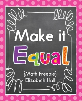 Make it Equal {Freebie}