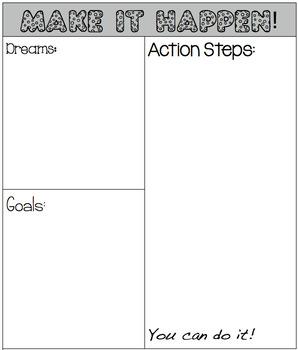 Make it Happen! Goal Setting Graphic Organizer