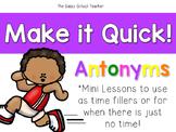 Make it Quick!  Antonyms
