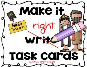 Make it Right Editing Cards: Bible Heroes Theme