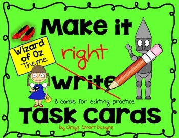 Make it Right Editing Cards: Wizard of Oz