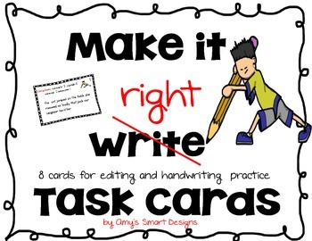 Make it Right Task Cards