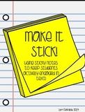 Make it Stick! Reading Responses