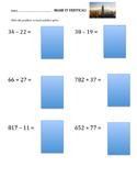 Make it Vertical Addition and Subtraction Worksheet