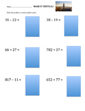 Make it Vertical Addition and Subtraction Worksheet