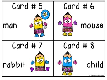 Plurals - Make it a Plural!  Exciting Scoot Game - CC L1.1c, L2.1b, L4.1b