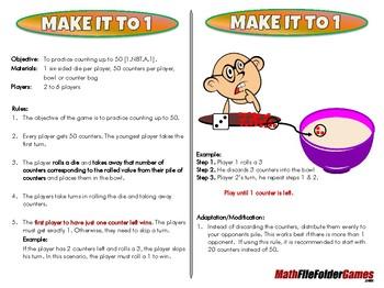 Make it to 1 - 1st Grade Math Game [CCSS 1.NBT.A.1]