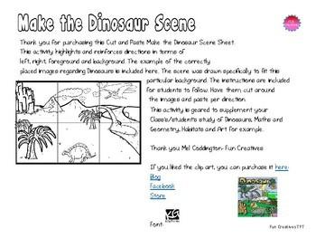 Make the Dinosaur Scene-Cut and Paste Activity