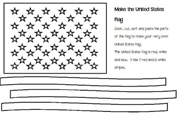 Make the United States Flag Template