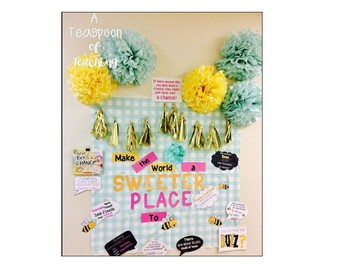 Make the World a Sweeter Place Door Decor (Bee theme)