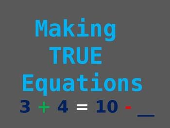 Make true equations
