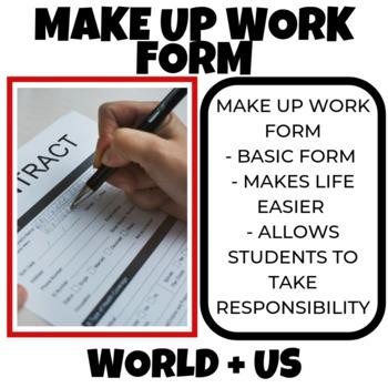 Make Up Work Form