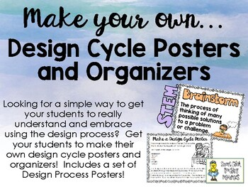 Make your Own Design Cycle Posters and Graphic Organizers