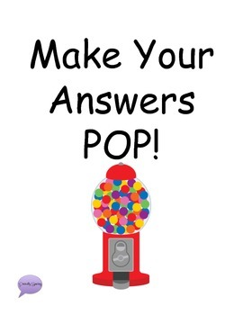 Make your answers POP visuals
