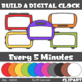 Build a Digital Clock ClipArt Telling Time Every 5 Minutes
