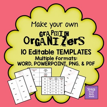 Make your own GRAPHIC ORGANIZERS - editable
