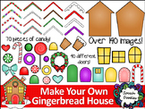 Make your own Gingerbread House Printable and Clipart - Over 140 images!